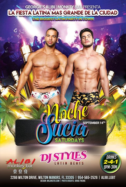 Noche Sucia Saturdays with La Globos a Wilton Manors le sab 14 settembre 2019 21:00-03:00 (Clubbing Gay)