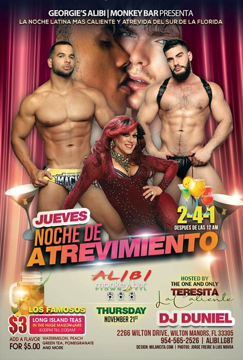 Noche de Atrevimiento in Wilton Manors le Thu, November 28, 2019 from 09:00 pm to 02:00 am (Clubbing Gay)