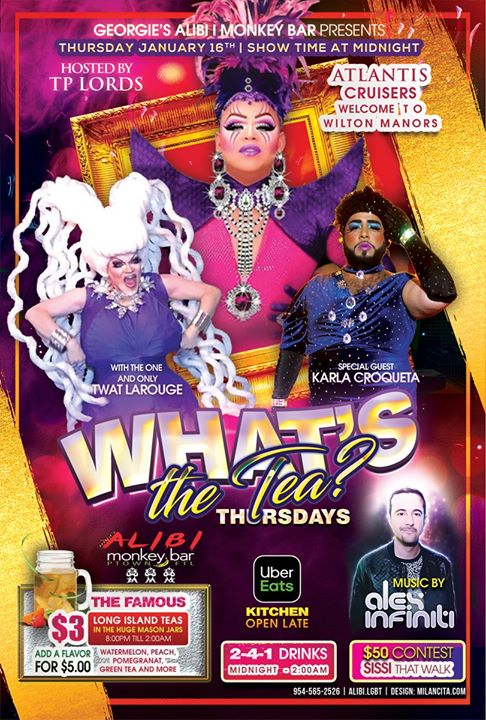 What's the Tea?! Thursdays en Wilton Manors le jue  6 de febrero de 2020 23:00-02:00 (Clubbing Gay)