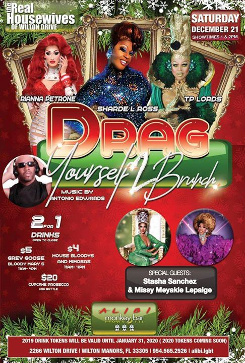 Wilton ManorsDrag Yourself to Brunch Saturdays2020年 1月18日,13:00(男同性恋 早午餐)