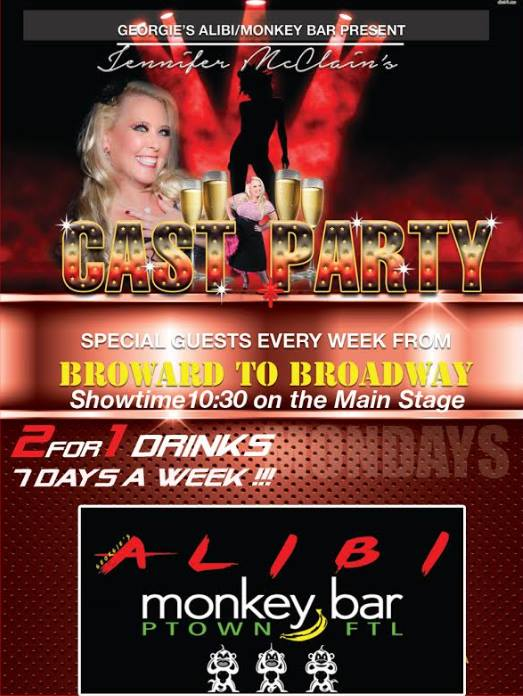 Jennifer McClain's Cast Party in Wilton Manors le Mon, September 30, 2019 from 10:30 pm to 12:00 am (After-Work Gay)