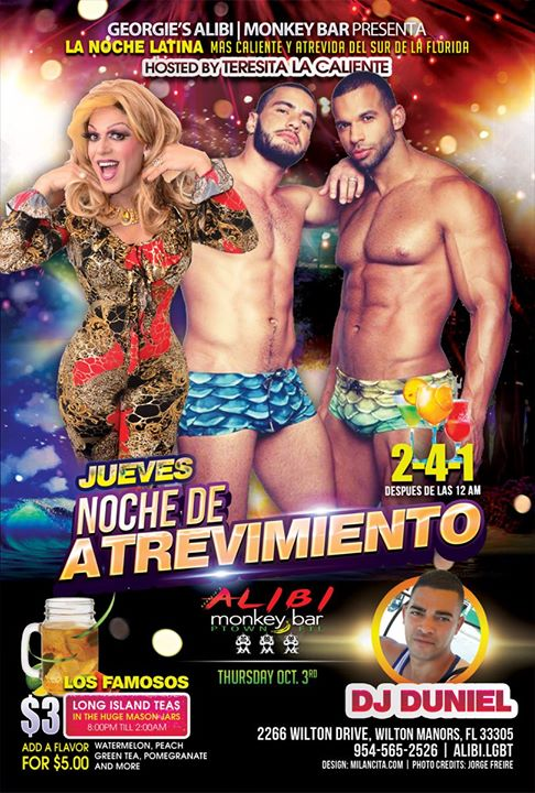 Noche de Atrevimiento in Wilton Manors le Thu, October  3, 2019 from 09:00 pm to 02:00 am (Clubbing Gay)