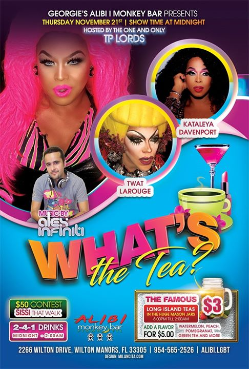 What's the Tea?! Thursdays en Wilton Manors le jue 28 de noviembre de 2019 23:00-02:00 (Clubbing Gay)