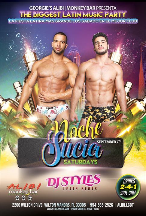 Noche Sucia Saturdays with La Globos à Wilton Manors le sam.  7 septembre 2019 de 21h00 à 03h00 (Clubbing Gay)