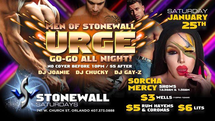 Stonewall Saturdays a Orlando le sab 25 gennaio 2020 22:00-02:00 (Clubbing Gay)