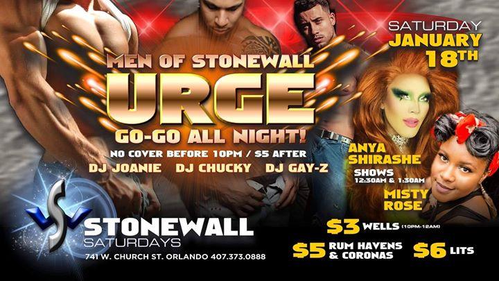 Stonewall Saturdays a Orlando le sab 18 gennaio 2020 22:00-02:00 (Clubbing Gay)