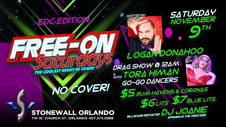 Free-On Saturdays! in Orlando le Sat, November  9, 2019 from 09:00 pm to 02:00 am (Clubbing Gay)