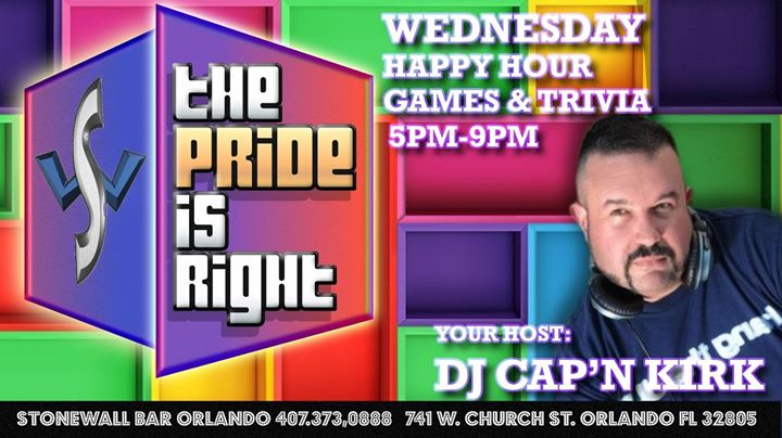 The Pride is Right! in Orlando le Wed, October  9, 2019 from 06:00 pm to 09:00 pm (After-Work Gay)