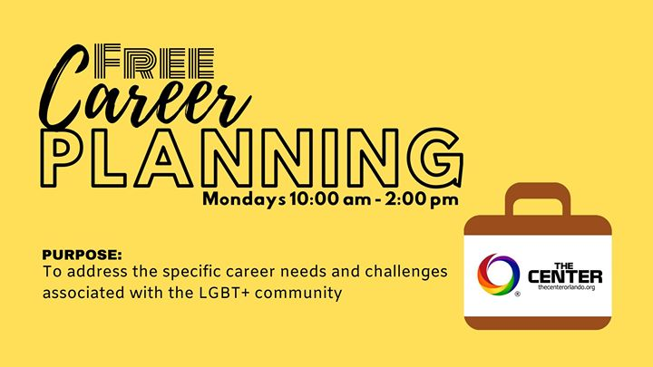 Free Career Planning in Orlando le Mon, November 11, 2019 from 10:00 am to 02:00 pm (Meetings / Discussions Gay, Lesbian)