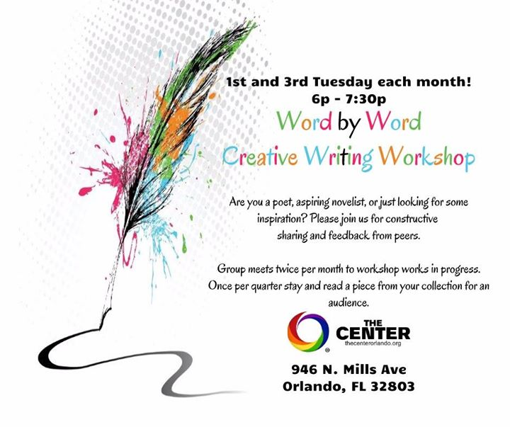 Word by Word - Center Orlando à Orlando le mar. 16 juillet 2019 de 18h00 à 19h30 (Atelier Gay, Lesbienne)