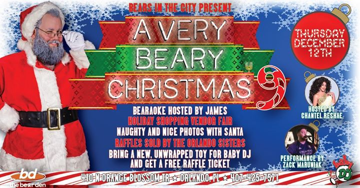 A Very Beary Christmas 9 in Orlando le Thu, December 12, 2019 from 09:00 pm to 01:00 am (Clubbing Gay, Bear)