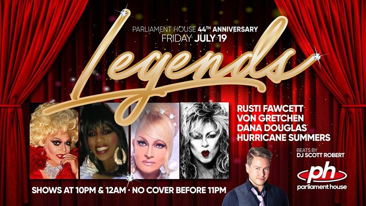44th Anniversary Legends Show in Orlando le Fr 19. Juli, 2019 21.00 bis 03.00 (Clubbing Gay, Bear)