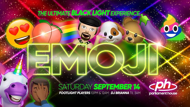 EMOJI - The Ultimate Black Light Party a Orlando le sab 14 settembre 2019 20:00-03:00 (Clubbing Gay, Orso)
