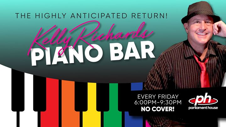 Kelly Richards Piano Bar Sing-A-Long en Orlando le vie  3 de abril de 2020 18:00-21:30 (Festival Gay, Oso)
