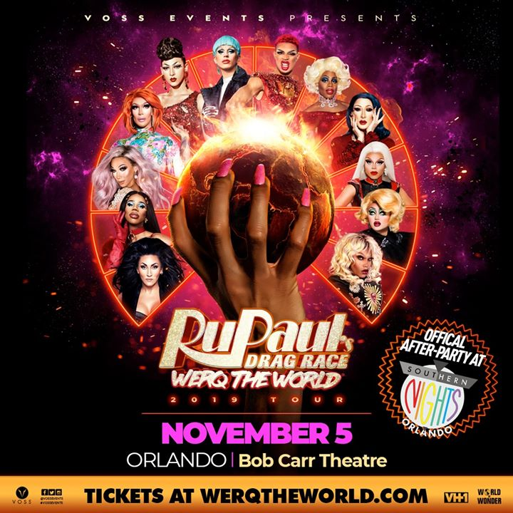 11.5.19 RuPaul's Drag Race WERQ the WORLD Official After Party a Orlando le mar  5 novembre 2019 21:00-02:30 (Clubbing Gay, Lesbica)