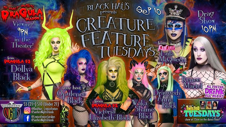 09.10 Creature Feature w/ Laila Mcqueen, Renee Martel & Draggedy a Orlando le mar 10 settembre 2019 20:30-23:00 (After-work Gay, Lesbica)