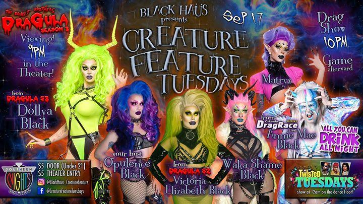 09.17 Creature Feature w/ Matryx & Annie Mae em Orlando le ter, 17 setembro 2019 20:30-23:00 (Clubbing Gay, Lesbica)