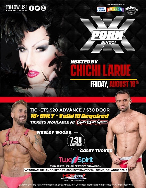 XXX GayDayS® Porn Bingo 2019 | #OfficialGayDayS in Orlando le Fri, August 16, 2019 from 07:30 pm to 09:00 pm (After-Work Gay, Lesbian, Trans, Bi)