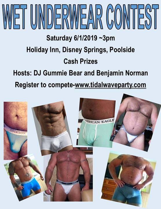 Wet Underwear Contest in Orlando le Sat, June  1, 2019 from 03:00 pm to 04:00 pm (Clubbing Gay, Bear)