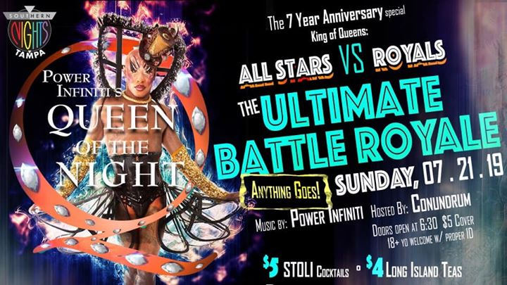 7.21.2019 QOTN presents The Ultimate Battle Royale in Tampa le Sun, July 21, 2019 at 06:30 pm (After-Work Gay)