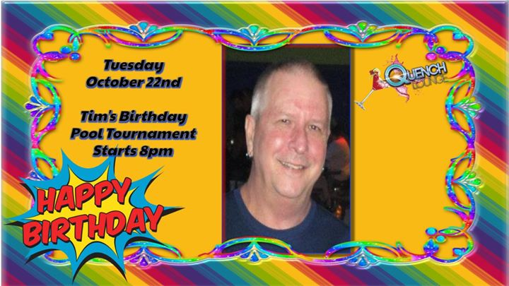 Tim's (Poppa) Pool Tournament Birthday a Largo le mar 22 ottobre 2019 20:00-02:00 (Clubbing Gay)