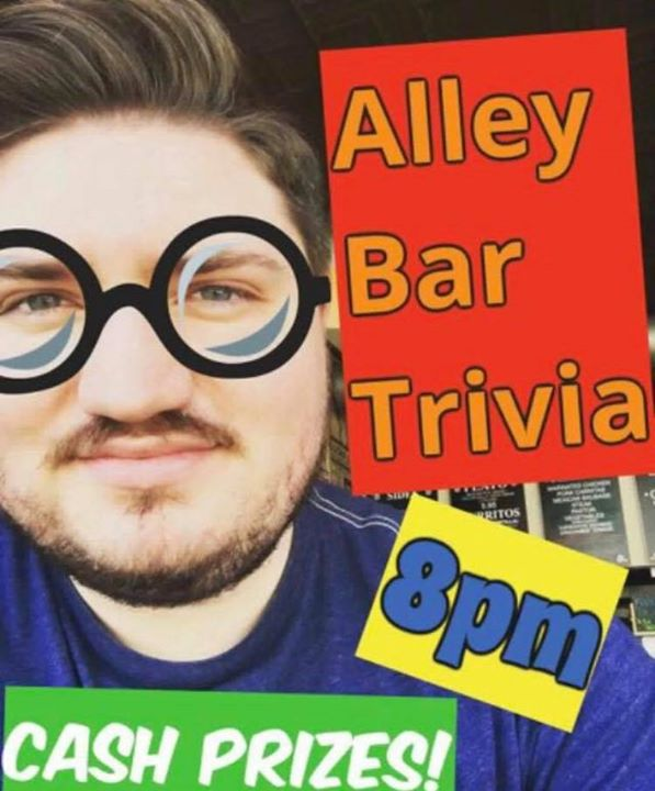 BostonAlley Bar Trivia2019年 8月22日,20:00(男同性恋 下班后的活动)