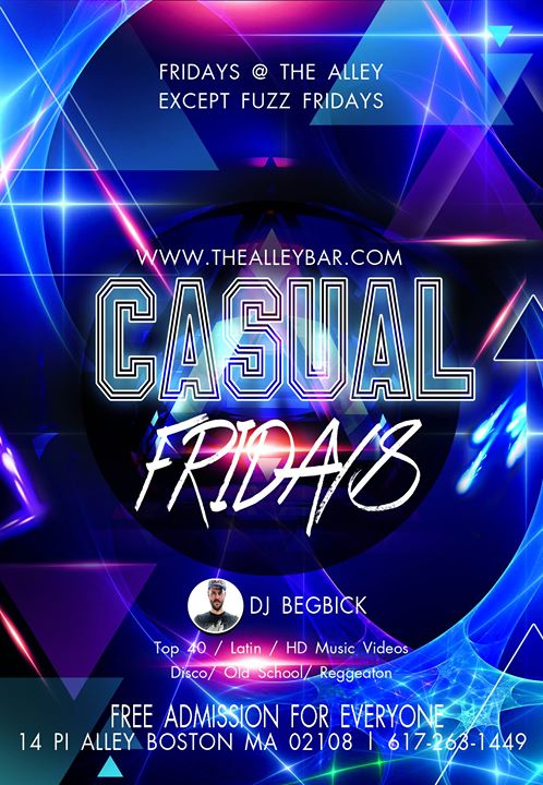 Casual Fridays à Boston le ven.  1 novembre 2019 de 21h00 à 02h00 (Clubbing Gay)