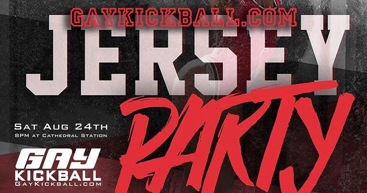 Boston - GayKickball Jersey Party! in Boston le Sat, August 24, 2019 from 08:00 pm to 11:00 pm (After-Work Gay, Lesbian, Trans, Bi)
