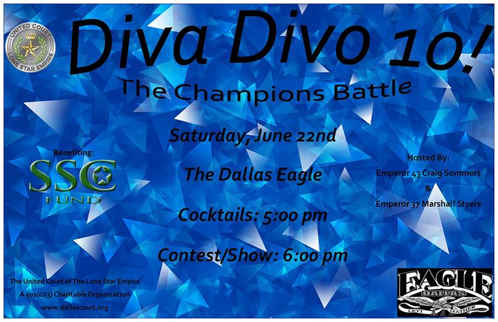 UCLSE presents Diva Divo 10 à Dallas le sam. 22 juin 2019 de 18h00 à 22h00 (After-Work Gay)