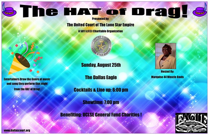UCLSE presents The Hat of Drag en Dallas le dom 25 de agosto de 2019 19:00-22:00 (After-Work Gay)