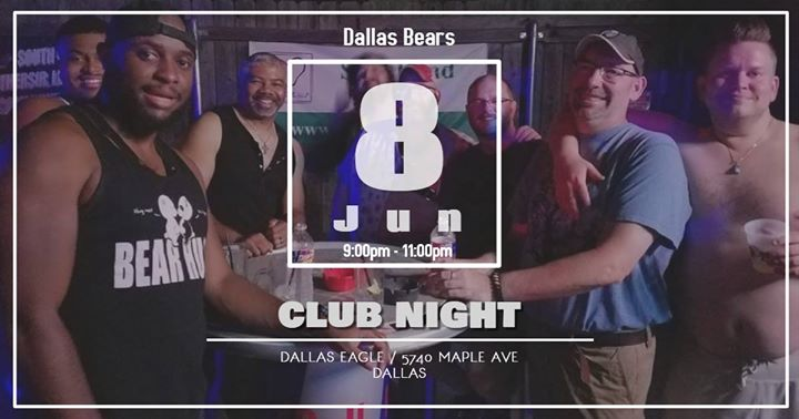 June 8th Club Night in Dallas le Sa  8. Juni, 2019 21.00 bis 23.00 (Clubbing Gay)
