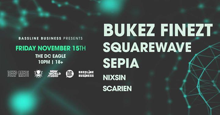 Washington D.C.Bukez Finezt, Squarewave + Sepia2019年10月15日,22:00(男同性恋 俱乐部/夜总会)