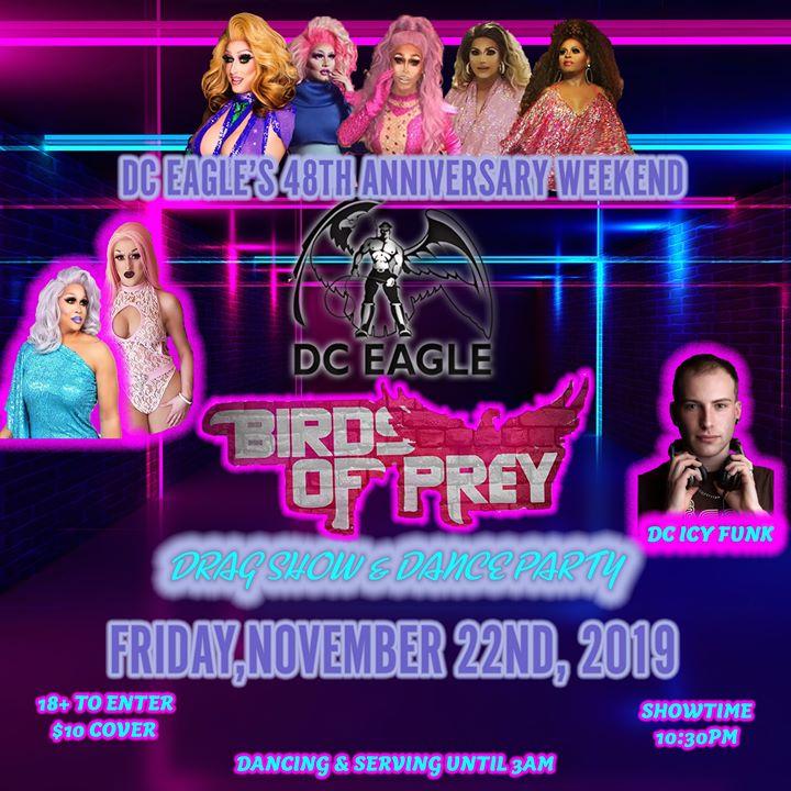 Our 48th Anniversary - FRIDAY - Birds of Prey Drag Show a Washington D.C. le ven 22 novembre 2019 21:00-03:00 (Clubbing Gay)