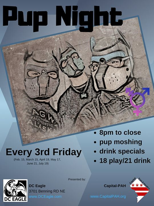 DC Pup Nite in Washington D.C. le Fri, October 18, 2019 from 08:00 pm to 02:00 am (Clubbing Gay)