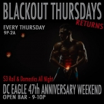 Blackout Thursdays - 47th Anniversary Edition in Washington D.C. le Thu, November 15, 2018 from 09:00 pm to 02:00 am (Clubbing Gay)