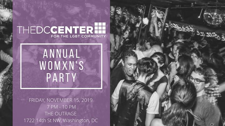 The DC Center Presents The Annual Womxn's Party in Washington D.C. le Fri, November 15, 2019 from 07:00 pm to 10:00 pm (After-Work Gay, Lesbian, Trans, Bi)