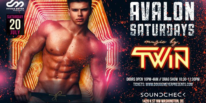 Avalon Saturdays - The Return of TWiN en Washington D.C. le sáb 20 de julio de 2019 22:00-04:00 (Clubbing Gay)