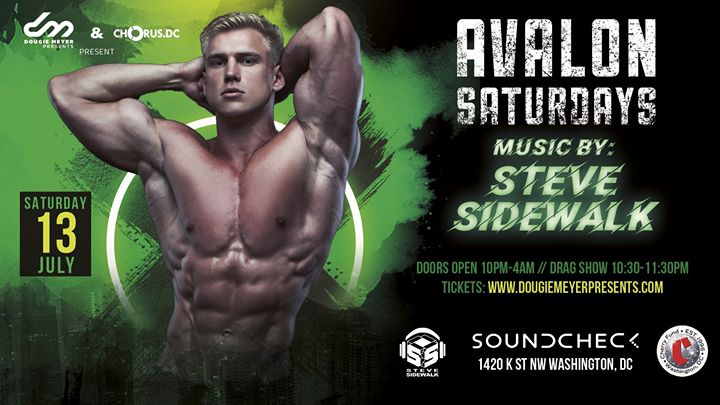 Avalon Saturdays, Chorus DC & The Cherry Fund present: DJ Steve Sidewa en Washington D.C. le sáb 13 de julio de 2019 22:00-04:00 (Clubbing Gay)