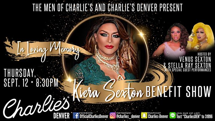 Kiera Sexton Benefit Show a Denver le gio 12 settembre 2019 20:30-23:30 (After-work Gay)