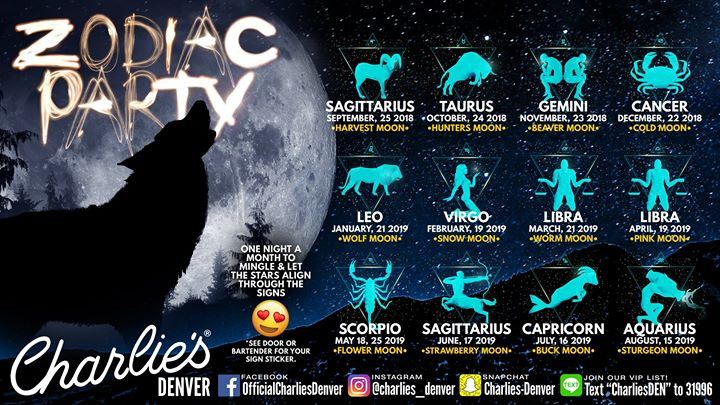 Zodiac Party: Ready to Mingle à Denver le lun. 17 juin 2019 de 21h00 à 02h00 (Clubbing Gay)