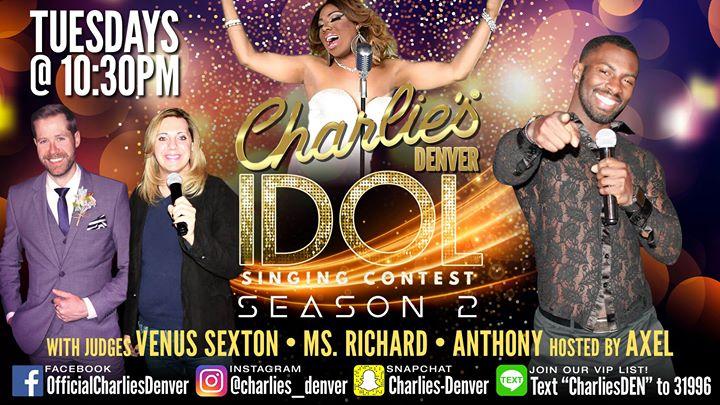 Charlie's Idol à Denver le mar. 30 juillet 2019 de 22h30 à 01h00 (Clubbing Gay)