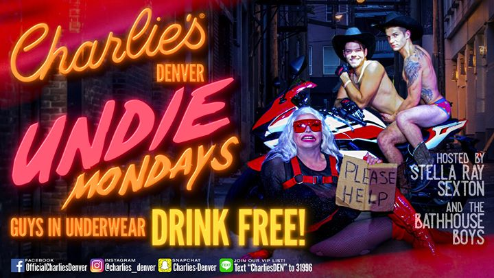 Undie Mondays in Denver le Mon, November 18, 2019 from 09:00 pm to 02:00 am (Clubbing Gay)