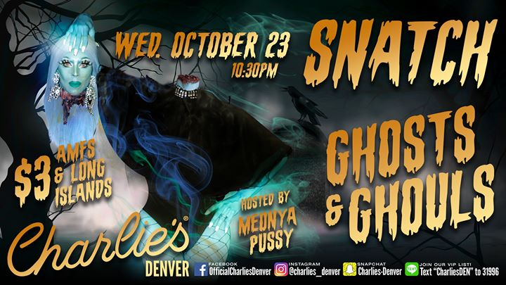 Snatch: Ghost and Ghouls a Denver le mer 23 ottobre 2019 22:30-02:00 (Clubbing Gay)