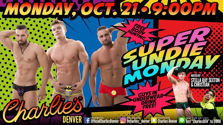 Super Undie Monday a Denver le lun 21 ottobre 2019 21:00-02:00 (Clubbing Gay)