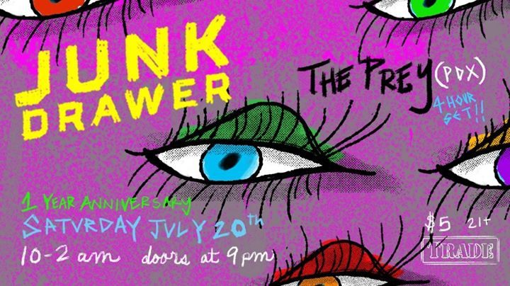 Junk Drawer 1 year Anniversary w/ The Prey in Denver le Sat, July 20, 2019 from 09:00 pm to 02:00 am (Clubbing Gay, Bear)