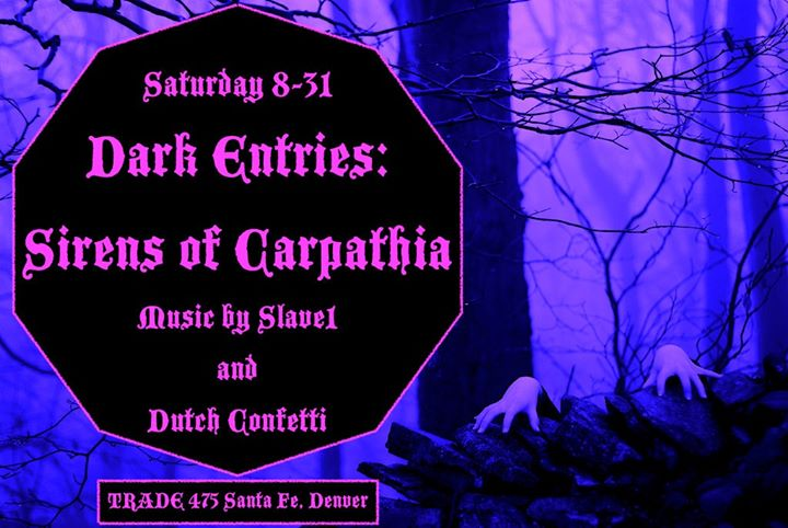 Dark Entries: Sirens of Carpathia à Denver le sam. 31 août 2019 de 21h00 à 02h00 (Clubbing Gay, Bear)