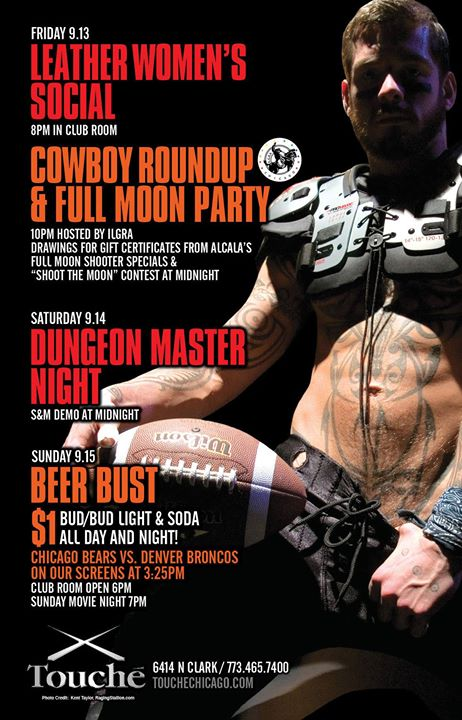Cowboy Roundup/Full Moon Party in Chicago le Fri, September 13, 2019 from 10:00 pm to 04:00 am (Clubbing Gay, Bear)