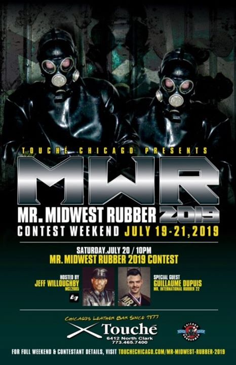 Mr. Midwest Rubber 2019 in Chicago from 19 til July 21, 2019 (After-Work Gay, Bear)