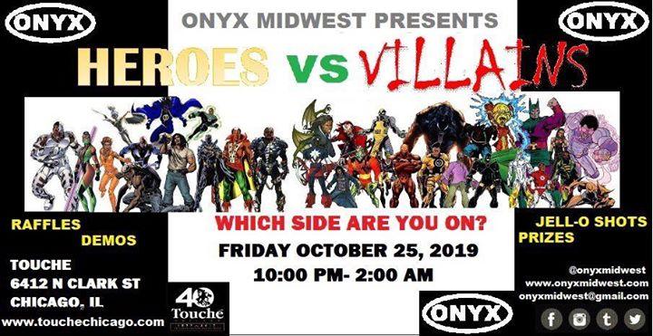 ONYX Club Night: Heroes vs Villains in Chicago le Fr 25. Oktober, 2019 22.00 bis 04.00 (Clubbing Gay, Bear)