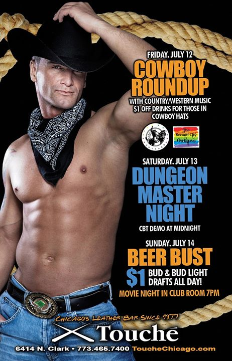 Cowboy Roundup in Chicago le Fr 12. Juli, 2019 22.00 bis 04.00 (Clubbing Gay, Bear)